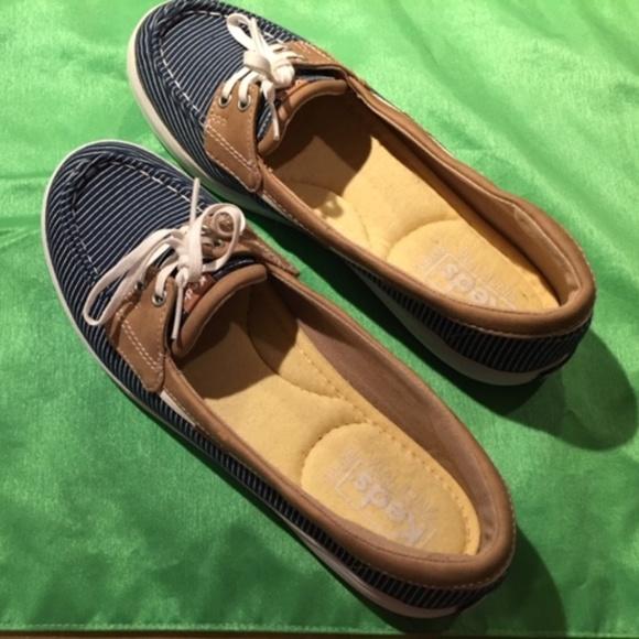 Keds Shoes   Charter Chalk Stripe Boat